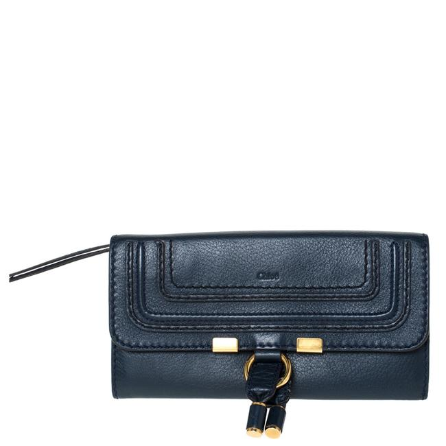 Item - Marcie Blue Leather Continental Wallet