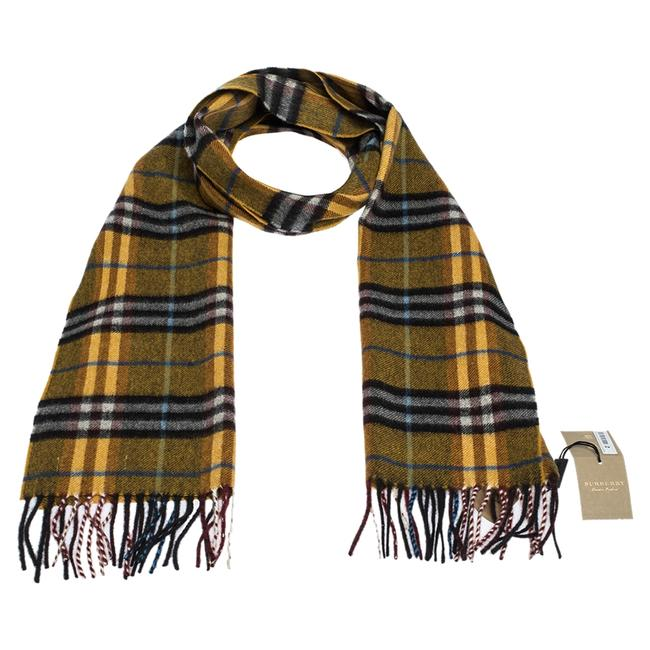 Item - Amber Yellow Castleford Check Cashmere Scarf/Wrap