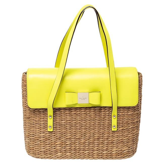 Item - Lemon Green Straw and Leather Large New York Luisa Tote