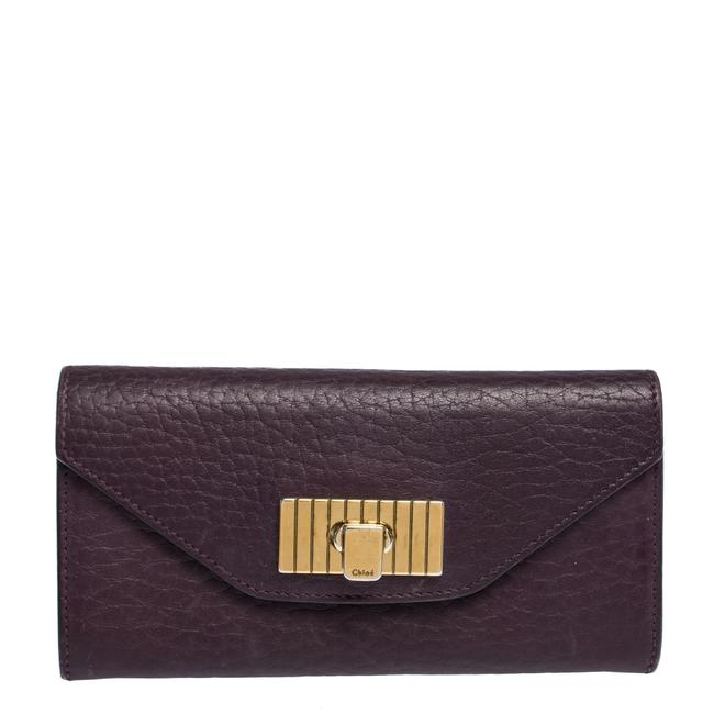 Item - Sally Purple Leather Continental Wallet