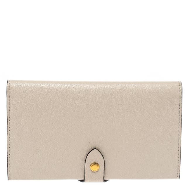 Item - Beige Leather Harlow Continental Wallet