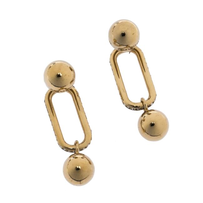 Burberry Crystal Charm Gold Tone Drop Earrings Jewelry Burberry Crystal Charm Gold Tone Drop Earrings Jewelry Image 4