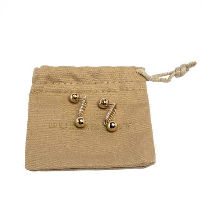 Burberry Crystal Charm Gold Tone Drop Earrings Jewelry Burberry Crystal Charm Gold Tone Drop Earrings Jewelry Image 5