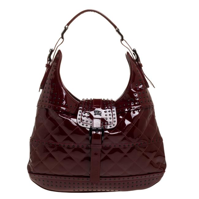 Item - Red Patent Leather Studded Brooke Hobo Bag
