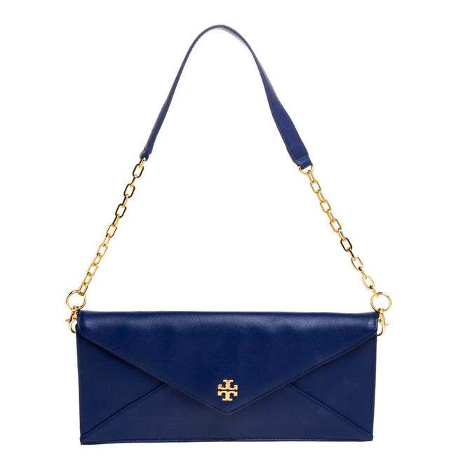 Item - Robinson Blue Leather Envelope Chain Clutch