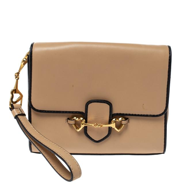 Item - Leather Flap Wristlet Clutch