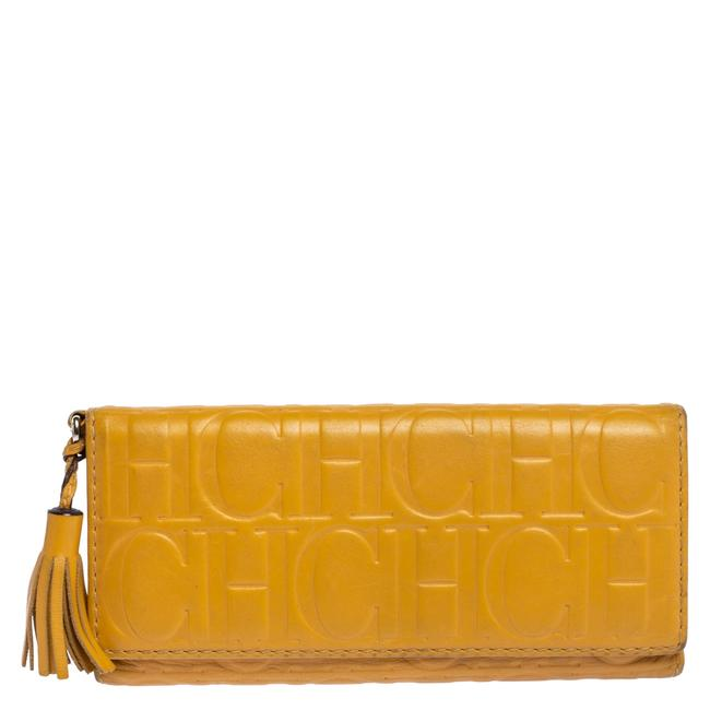 Item - Yellow Monogram Leather Continental Wallet