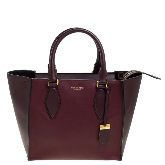 Item - Gracie Collection Burgundy Leather Medium Tote