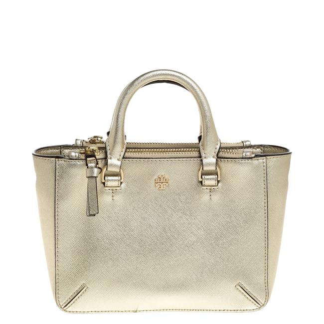 Item - Gold Leather Double Zip Tote