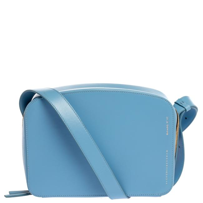 Item - Crossbody Baby Blue Leather Shoulder Bag
