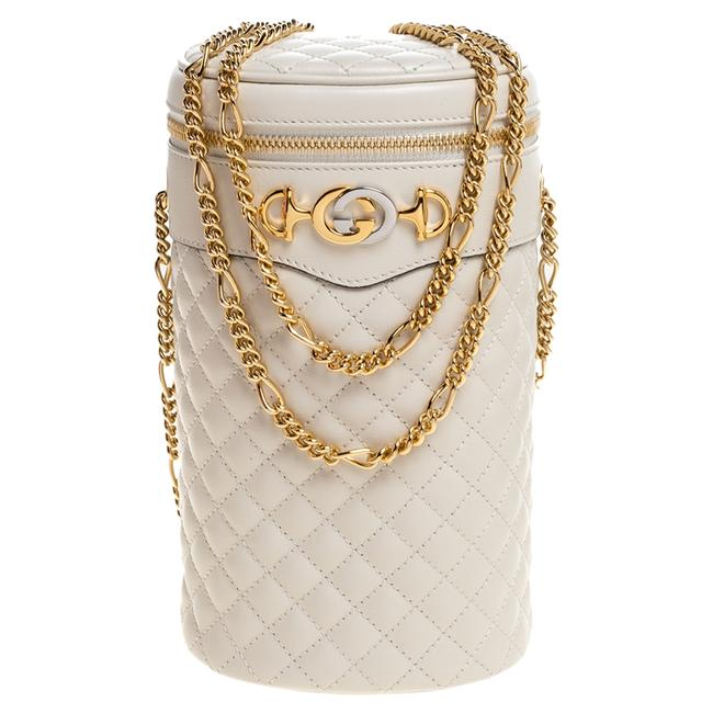 Item - Bag White Quilted Leather Trapuntata Convertible Belt