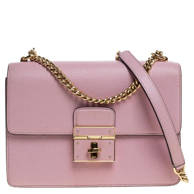 Item - Dolce and Gabbana Pink Leather Small Rosalia Shoulder Bag