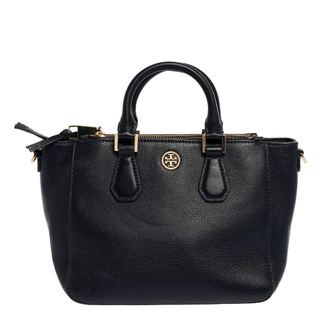 Item - Robinson Navy Blue Leather Double Zip Tote