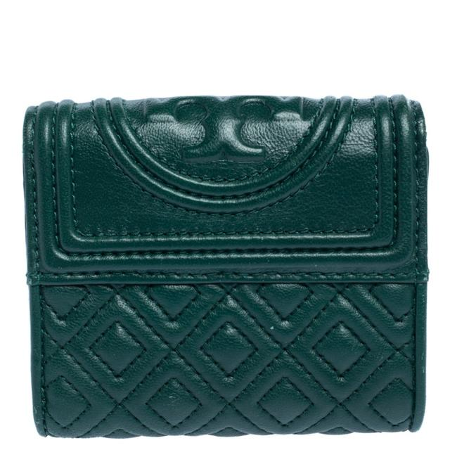 Item - Fleming Green Leather Trifold Wallet