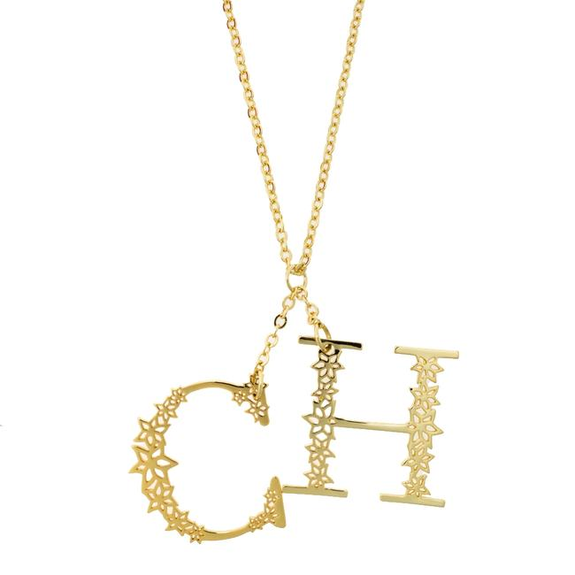 CH Carolina Herrera Gold Plated C For Necklace Jewelry CH Carolina Herrera Gold Plated C For Necklace Jewelry Image 1