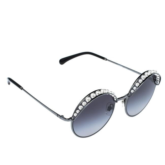 Item - Pearl Embellished/Grey Gradient 4234h Round Sunglasses