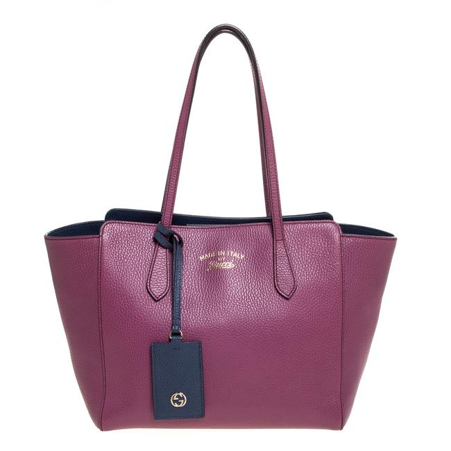 Item - Swing Magenta Leather Small Tote