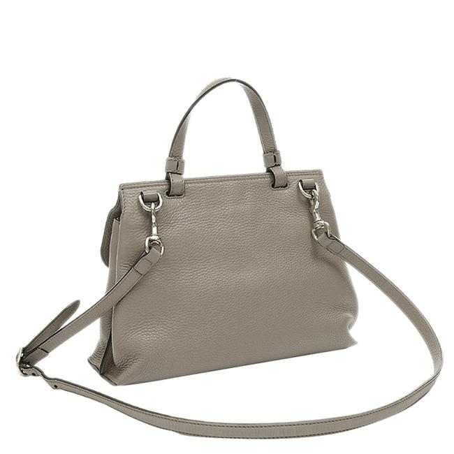 Item - Bamboo Daily Top Handle Bag Grey Leather Wristlet