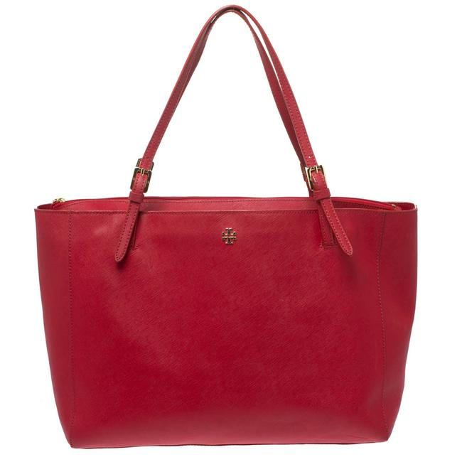 Item - Red Leather Large York Buckle Tote