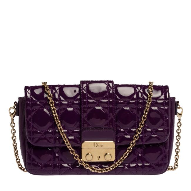 Item - Purple Cannage Patent Leather Miss Promenade Chain Pouch Shoulder Bag
