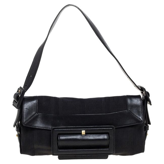 Item - Signature Canvas and Leather Buckle Flap Shoulder Bag