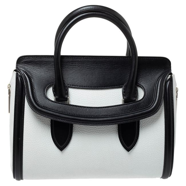 Item - Black/White Leather Medium Heroine Satchel