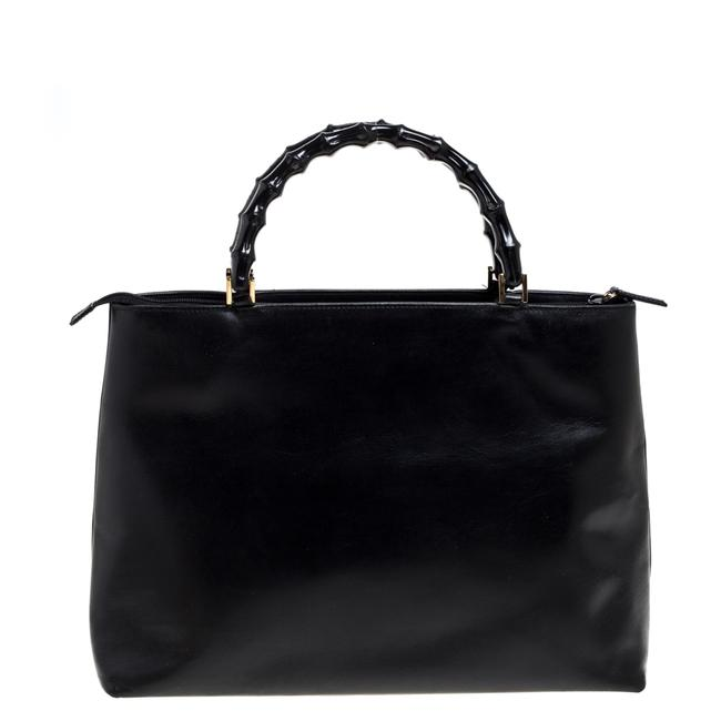 Item - Leather Vintage Bamboo Tote