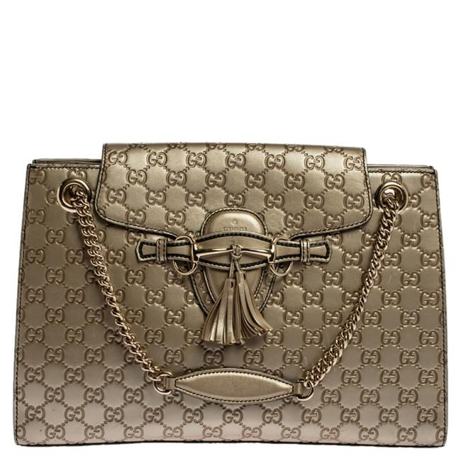Item - Emily Chain Gold ssima Leather Large Shoulder Bag