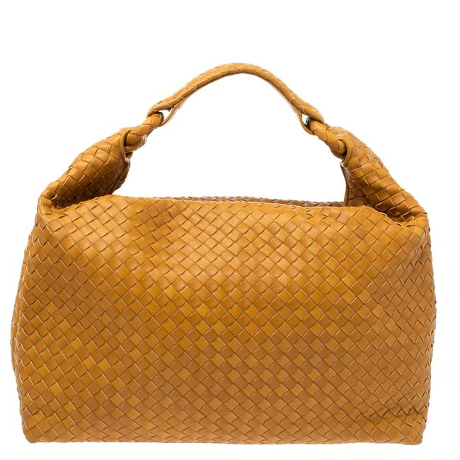 Item - Mustard Intrecciato Leather Sloane Hobo Bag