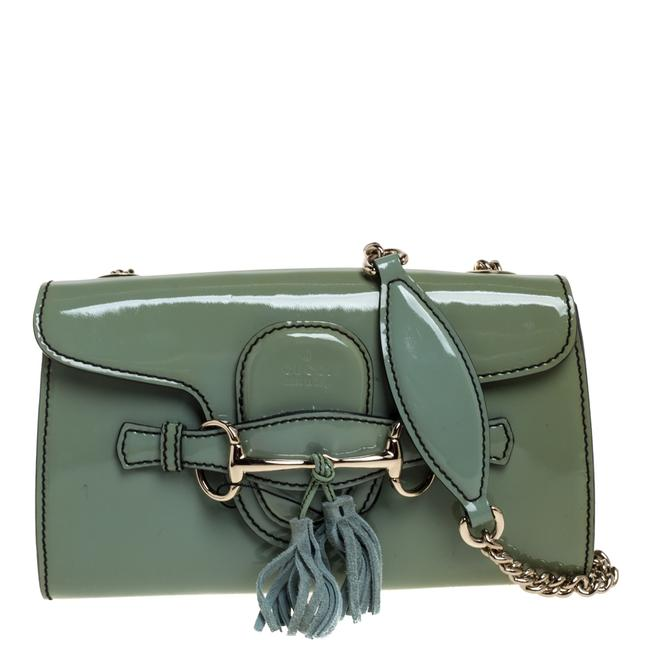 Item - Emily Chain Green Patent Leather Shoulder Bag