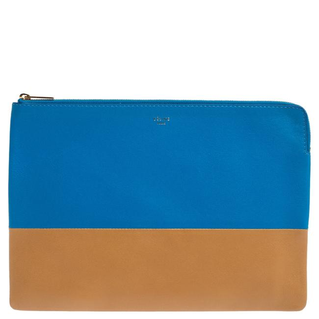 Item - Solo Blue/Brown Leather Clutch