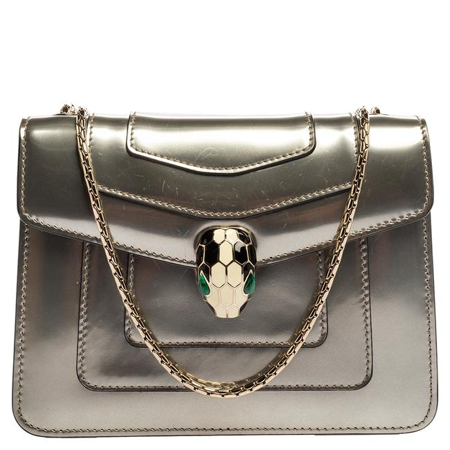 Item - Grey Patent Leather Small Serpenti Forever Shoulder Bag