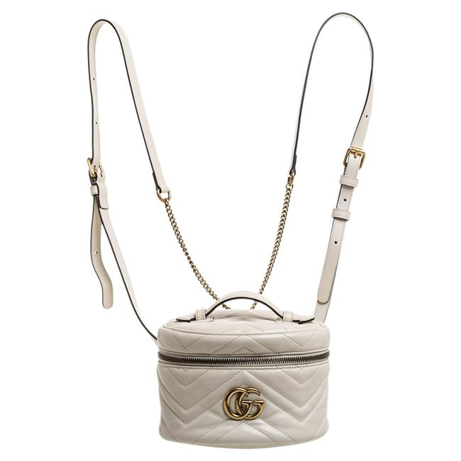 Item - Vanity Case Marmont Cream Leather Gg Backpack