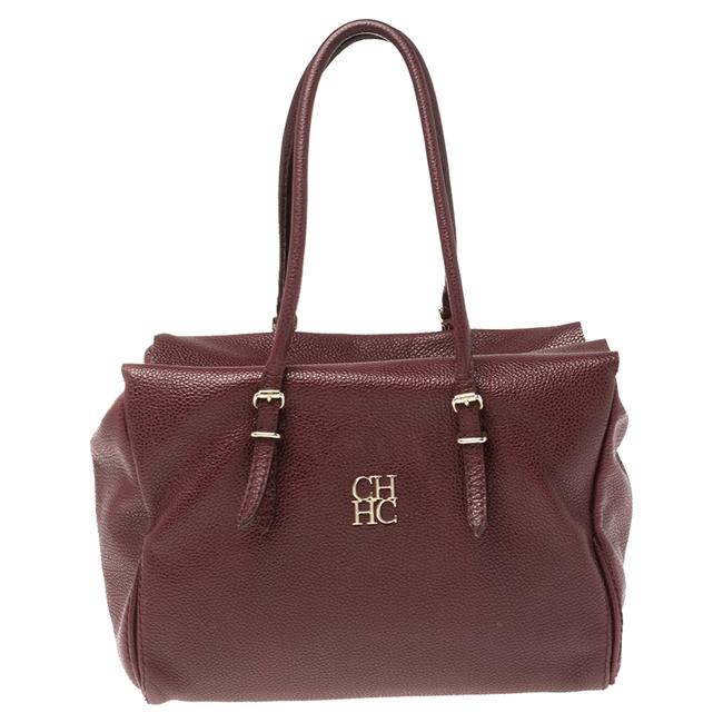 Item - Burgundy Pebbled Leather Satchel
