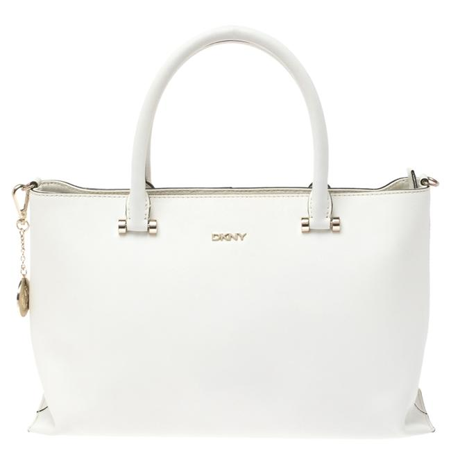 Item - White Leather Bryant Park Zip Tote