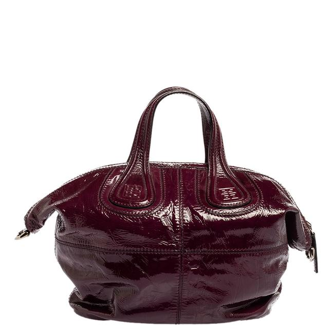 Item - Top Handle Purple Patent Leather Small Nightingale Shoulder Bag