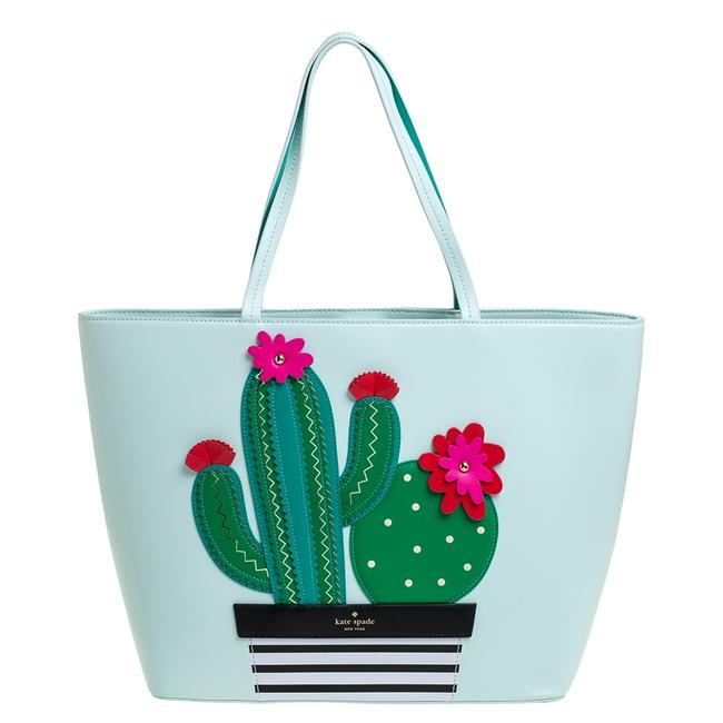Item - Pale Green Leather New Horizons Cactus Shopper Tote