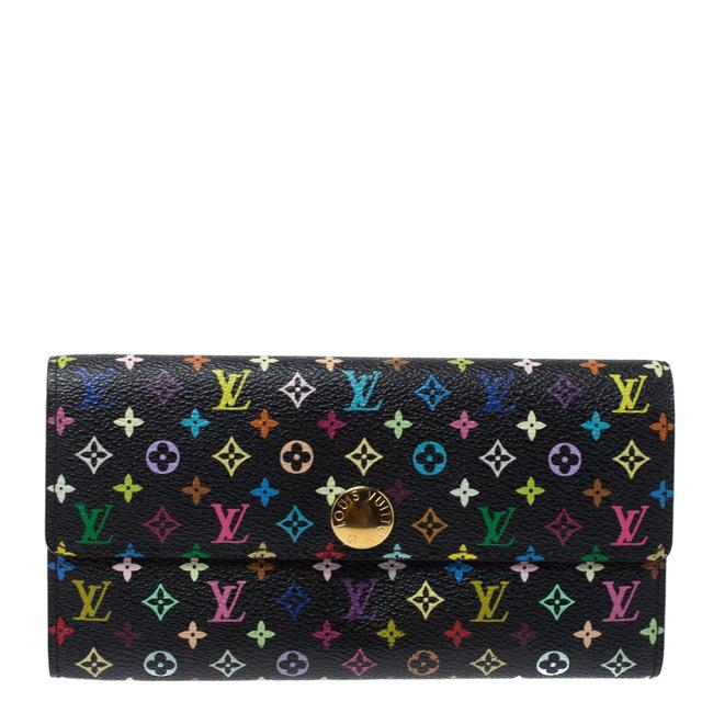 Item - Sarah Black Multicolor Monogram Wallet