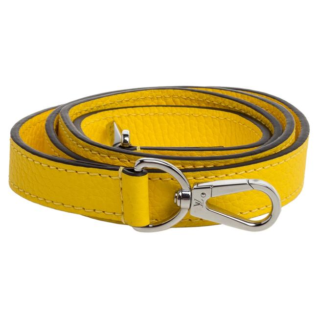 Item - Yellow Leather Bag Shoulder Strap Tech Accessory