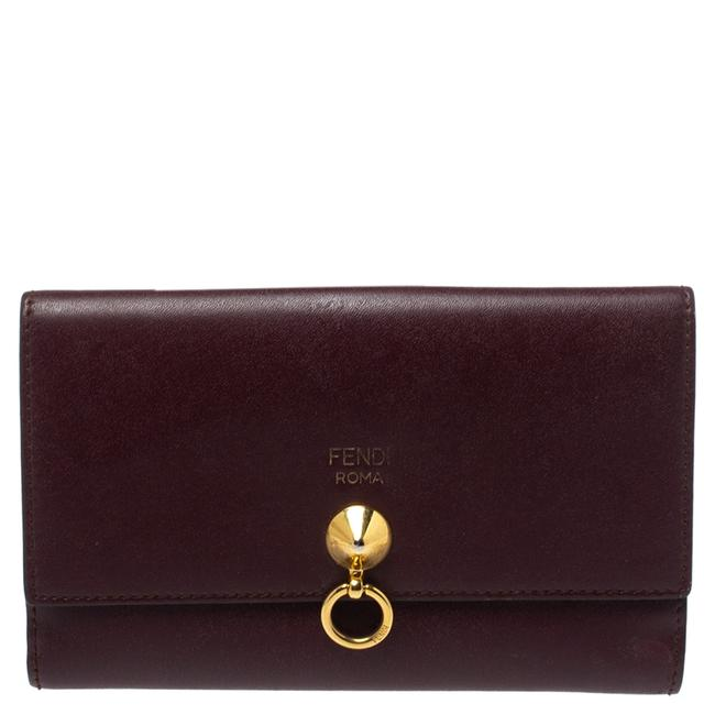 Item - Burgundy Leather By The Way Wallet