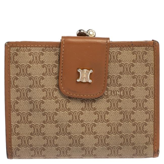 Item - Macadam Beige/Tan Coated Canvas and Leather Wallet