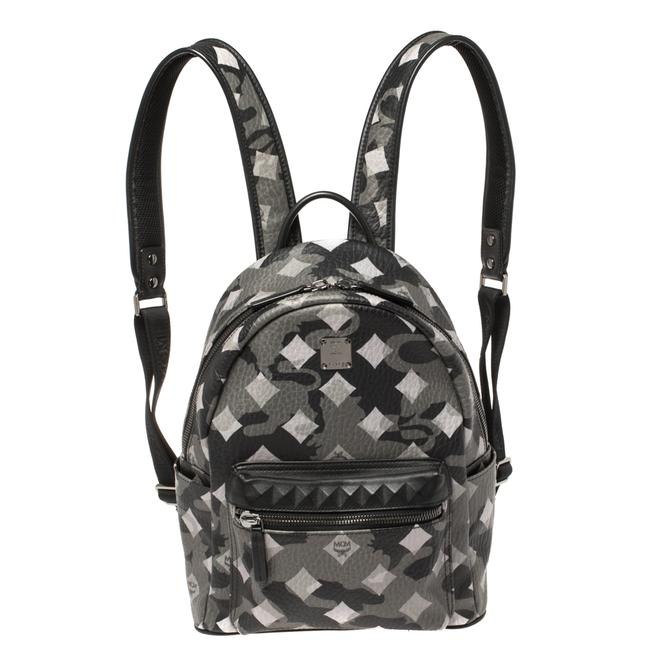 Item - Black/Grey Munich Lion Camo Print Coated Canvas and Leather Stark Backpack