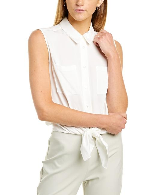 Theory Tie-front Silk-blend Shirt K062503r Blouse Theory Tie-front Silk-blend Shirt K062503r Blouse Image 1