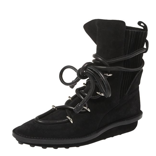 Item - Black Suede Leather Snow Mountain Ankle Wrap Size 39 Boots/Booties