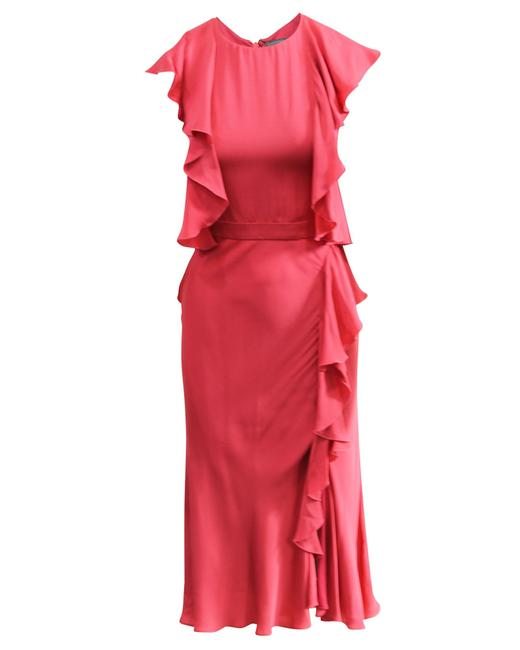 Item - Ruffle Midi -pre Owned Condition Very Good Cocktail Dress