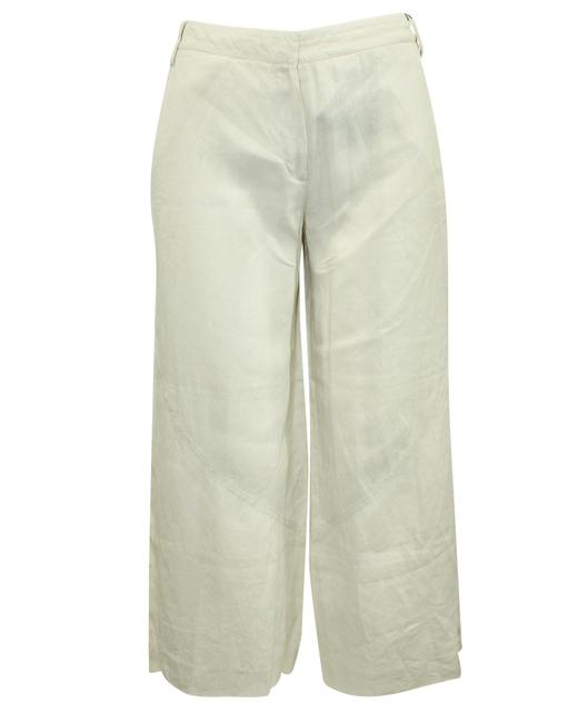 Item - Emporio Beige Wide Leg Linen -pre Owned Condition Very Pants