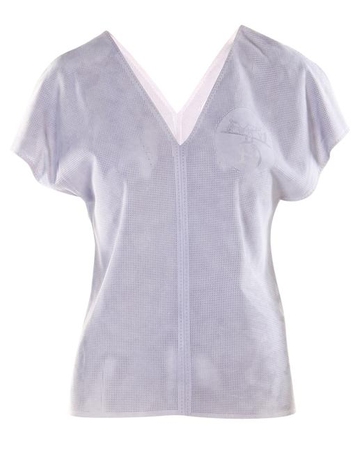 Item - Purple Leather Top -pre Owned Condition Very Good Fr36 Blouse