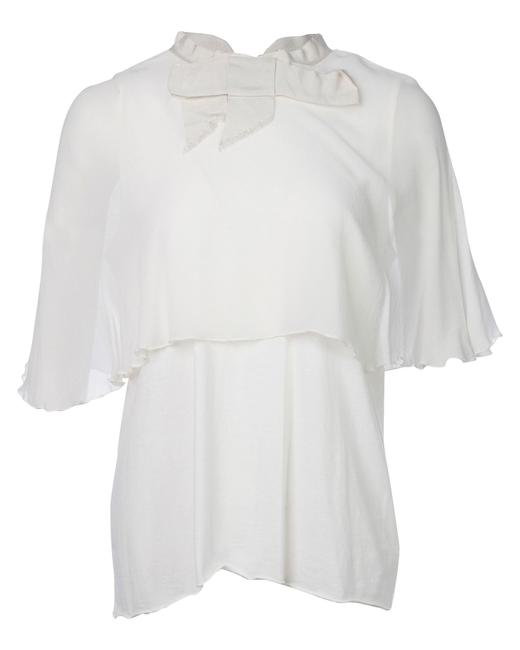 Item - Double Layer Ribbon -pre Owned Condition Good Fr34 Blouse