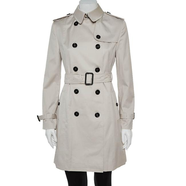 Item - Stone Cotton Belted Trench Coat S Belt