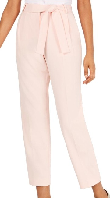 Item - Women's Dress Pink Size 12p Petite Crepe Belted Pants